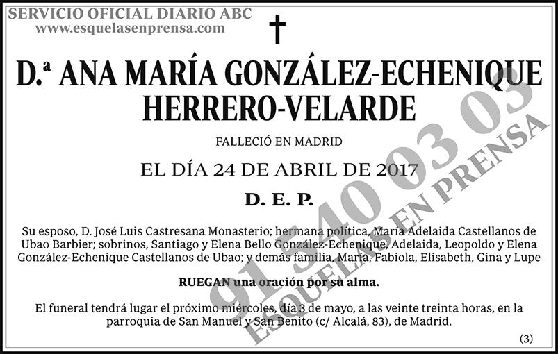 Ana María González-Echenique Herrero-Velarde